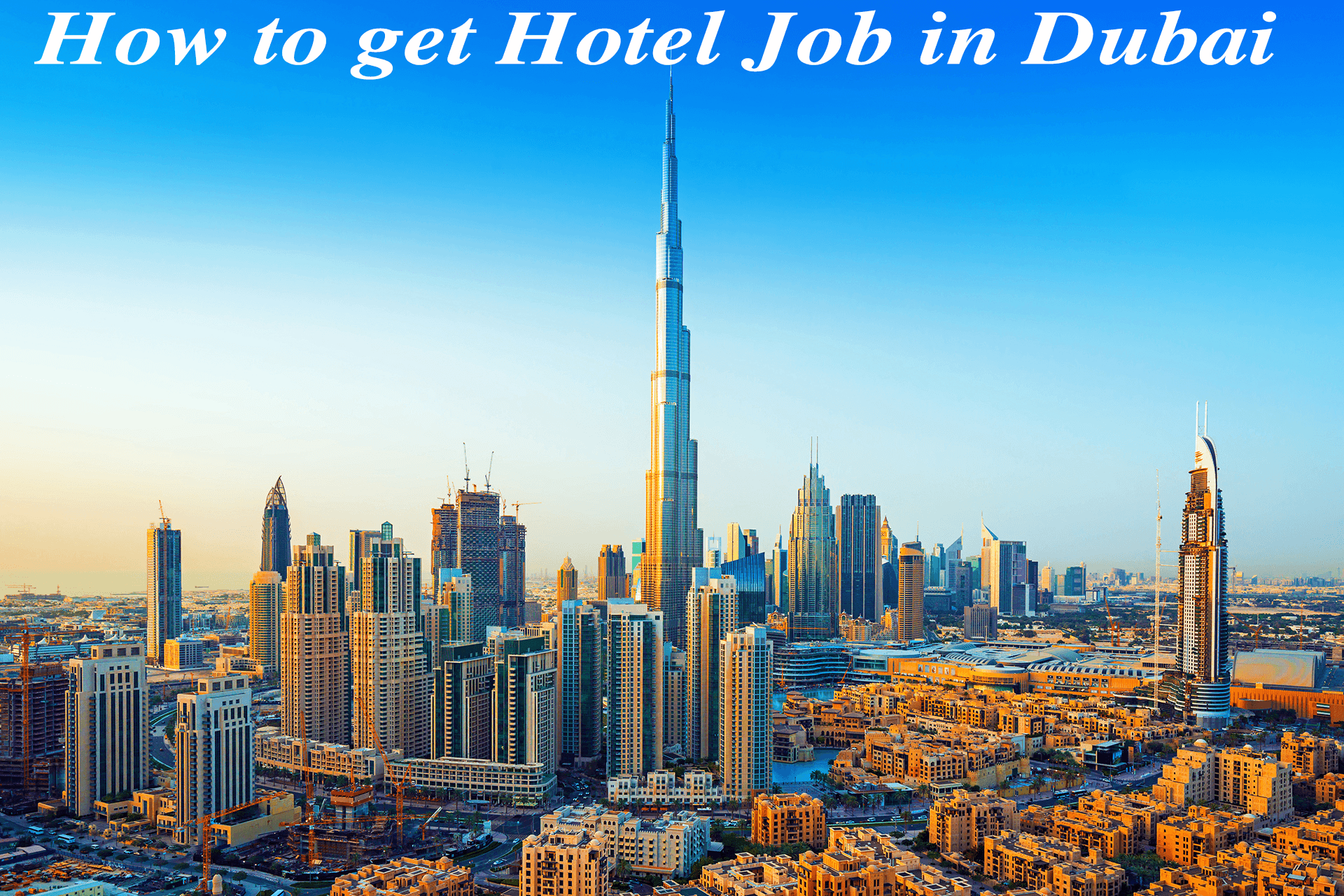 how to get a hotel job in Dubai