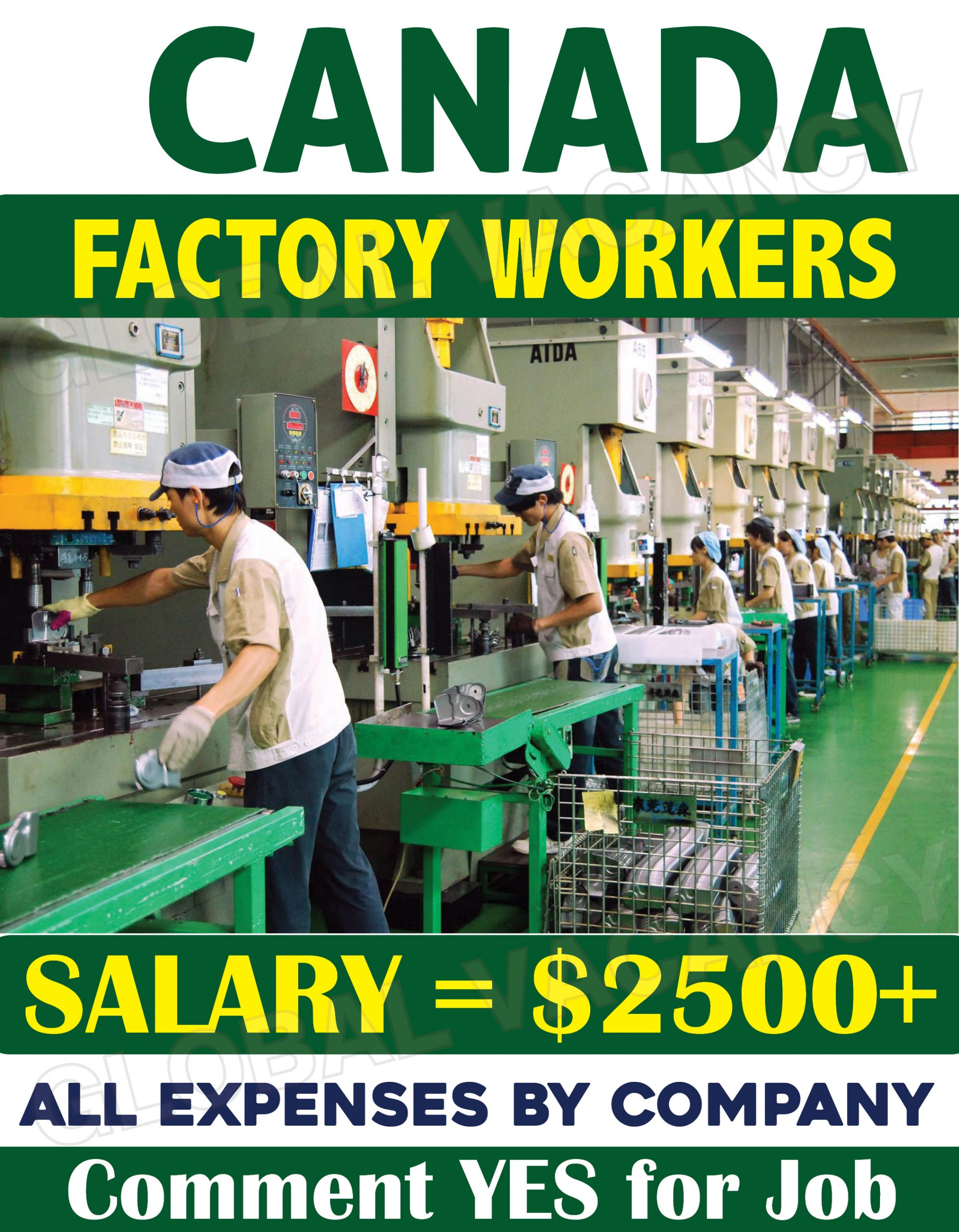 Factory Workers in Canada