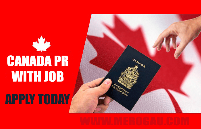 Canada pr with a job in 2020