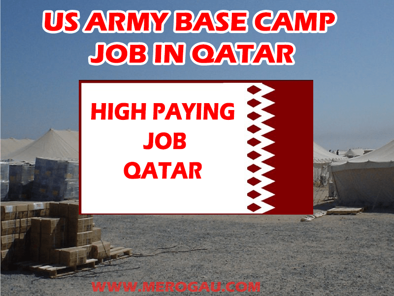 US Army Camp Job Opening in Qatar