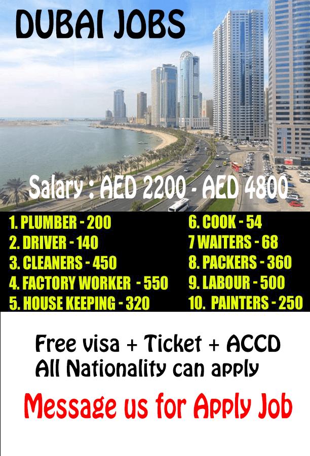 The average income in Dubai Job