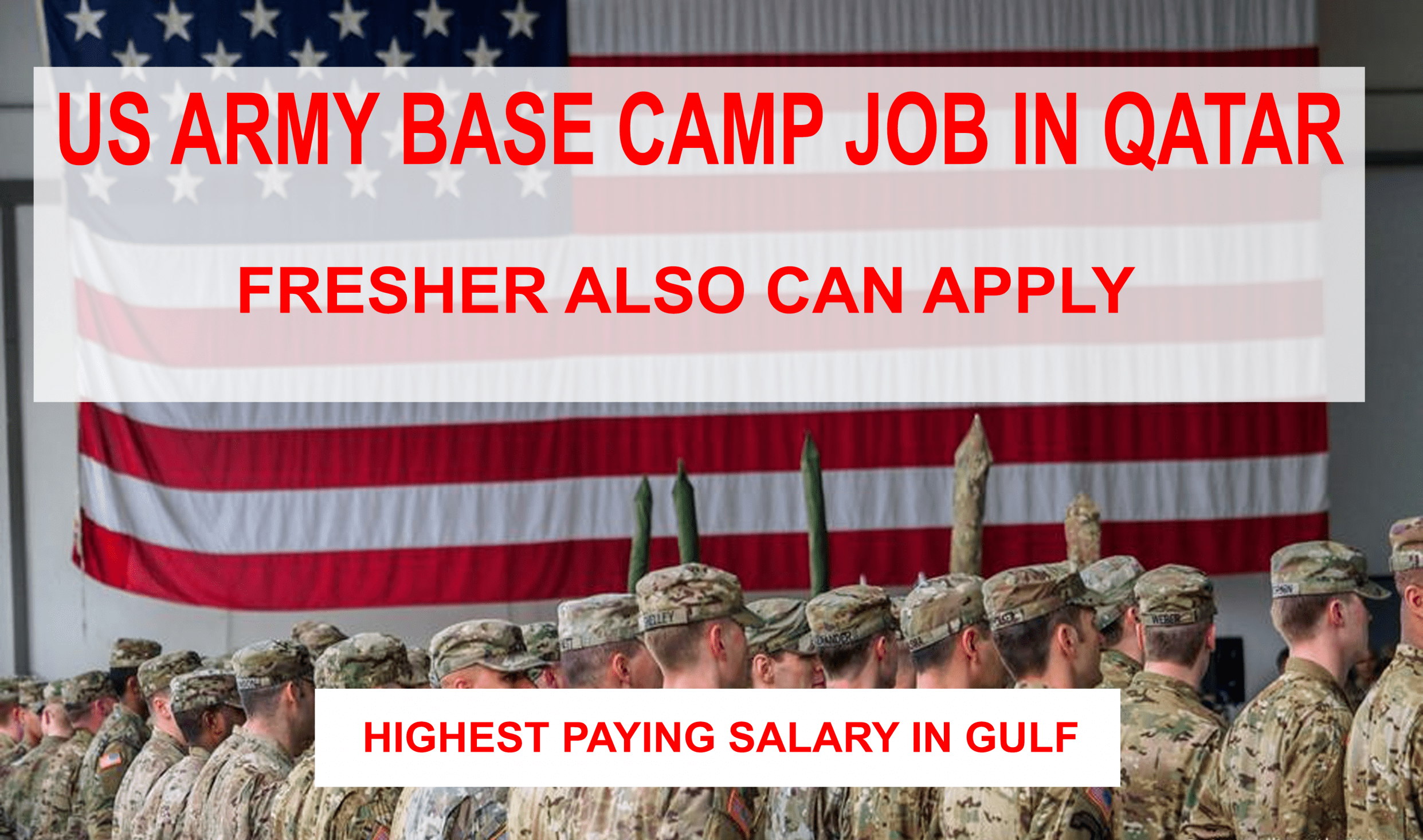 US Army Camp Job in Qatar