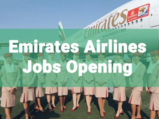 Urgent Job Opening in Emirates Airlines