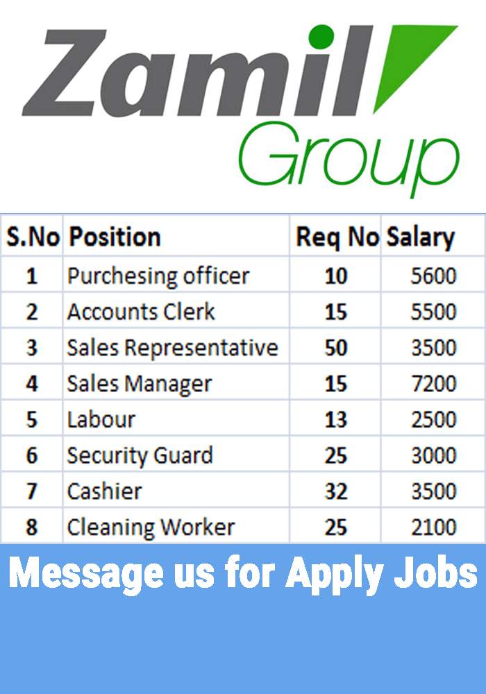 Jobs in Zamil group of Company