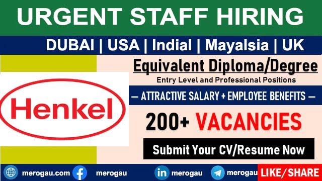 Henkel Careers Jobs | Dubai-India-Malaysia-UK-USA for Fresher
